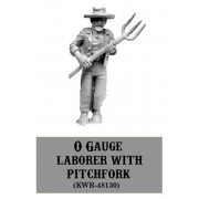 O Gauge Laborer With Pitchfork
